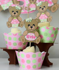 pink teddy bear baby shower or first birthday party