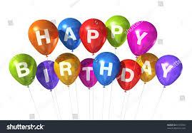 birthday balloons 3d happy birthday balloons isolated on stock illustration 67373965
