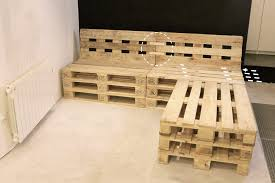 fabriquer canapé canapé d angle en palette