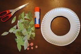 paper wreath craft laura williams