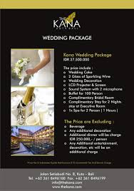 wedding package deals promos the kana kuta hotel accommodation deals in bali indonesia