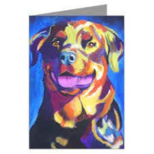 rottweiler gifts rottweiler greeting cards note cards