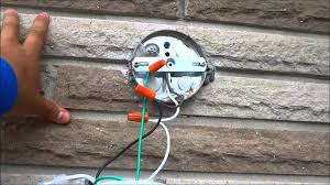 outdoor electrical box for light how to change an outdoor light fixture by yourself youtube