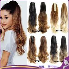 ponytail hair extensions women 20 claw clip ombre ponytail hair extensions