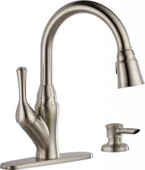 satin wall mount pull down kitchen faucet reviews two handle side