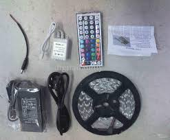 12 volt led light strips waterproof 5m 5050 rgb led strip 16ft 5m 300 leds waterproof 44 key ir