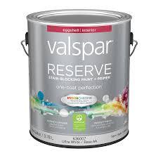 shop valspar reserve eggshell latex interior paint and primer in
