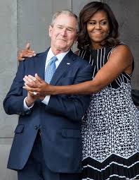 george w bush breaks down his affection for michelle obama u0027we