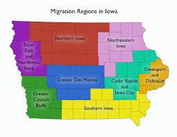 Iowa Counties Map Iowa U0027s Migration Story U2013 In A State Of Migration U2013 Medium