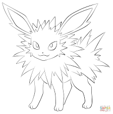 jolteon coloring page free printable coloring pages