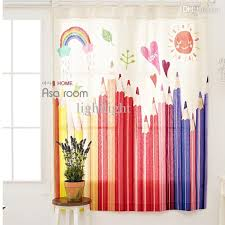 Blinds For Kids Room by Best Wholesale S U0026amp V Colored Pencil Cartoon Window Curtains For
