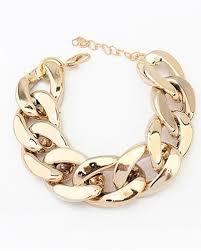 simple chain bracelet images Gold punk simple chunky chain bracelet ac1050001 2 jpg