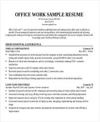 Office Job Resume Sample by 25 Printable Work Resume Templates Free U0026 Premium Templates