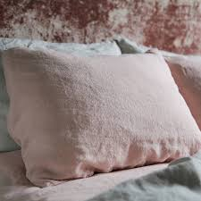 stone washed bed linen pillow case by linenme notonthehighstreet com