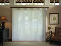 white sheer curtain with ripple fold pleated for sliding glass door hanging on black
