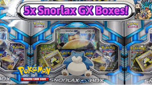 black friday pokemon cards opening 5x snorlax gx boxes more pokemon tcg sun and moon gx
