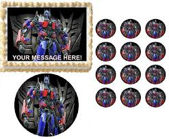 optimus prime cake topper transformers optimus prime edible cake topper image frosting sheet