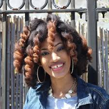 what is the hair styles for the jamican womam in 1960 and1950 nacketia from jamaica is naturally glam curlynikki natural