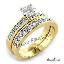 14k gold wedding ring sets 14k gold plated wedding ring sets collection on ebay