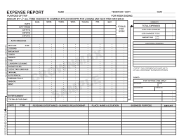 Detailed Expense Report Template by Travel Expense Report Forms Selimtd