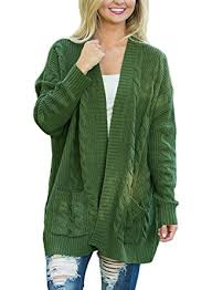 green sweaters dokotoo womens fashion open front sleeve cardigans sweater