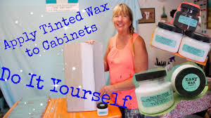 how to paint cabinets without sanding and apply tinted wax using