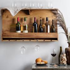 wall mounted wine glass rack home design