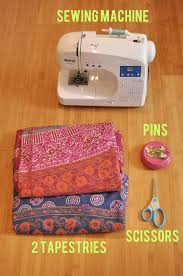 Making A Duvet Cover How To Turn Two Tapestries Into A Duvet Cover Diy Pinterest