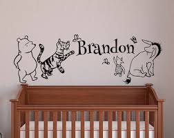 Winnie The Pooh Wall Decals For Nursery Pooh Decal Etsy