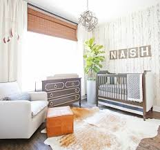 Cool Baby Rooms by Baby Boy Nursery Decorated With Wallpaper And Houseplant Cool