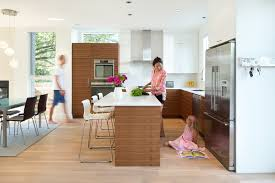 homely idea design of open kitchen x island with shelves islands