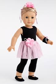 hair corsage show time ballet for 18 inch doll unitard skirt