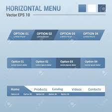 website menu design horizontal menu website elements web design ui royalty free