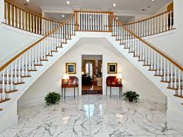 traditional staircase with double staircase u0026 high ceiling in