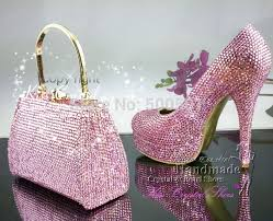 wedding shoes and bags aliexpress buy pink women pumps high heels bling