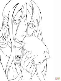 shiro from deadman wonderland manga coloring page free printable