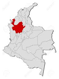 colombia map vector map of colombia with the provinces antioquia is highlighted