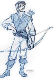 flynn rider with a bow and arrow concept art tangled pinterest