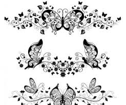 butterfly ornaments vector vector graphics