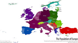 Map Of Europe 1500 by The Relative Population Of European Countries 1500 X 825 Mapporn