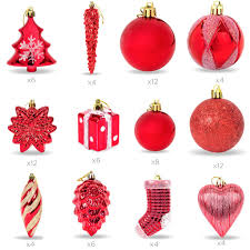 set of 72 handcrafted assorted christmas ornaments red u2013 best
