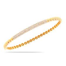 yellow bangle bracelet images 14k yellow gold pave diamond bangle bracelet long island ny jpg