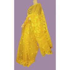 dhakai jamdani saree yellow colour dhakai jamdani saree