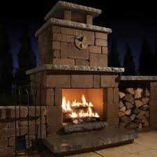 Patio Fireplace Kit by 7 Best Patio Images On Pinterest Outdoor Stone Fireplaces