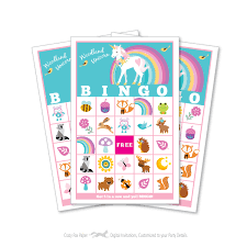 Printable Halloween Bingo Game by Woodland Unicorn Bingo Game Kid U0027s Printable Bingo Game