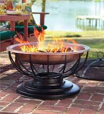 Copper Firepit Hammered Copper Pit With Lid Plow Hearth