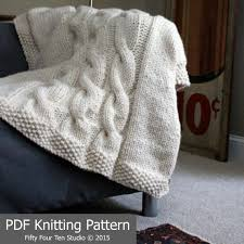 wedding gift knitting patterns blanket knitting pattern throw cable knit bulky yarn