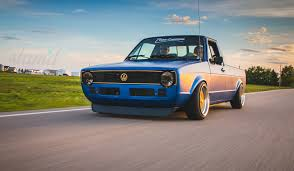 volkswagen hatchback custom built to drive the dub dynasty 1981 vw caddy u2013 slam u0027d mag