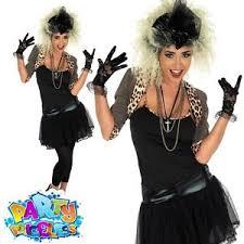 Rockstar Halloween Costumes Madonna Costume Womens 80s Wild Child Fancy Dress Ladies Pop Rock