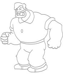 popeye characters coloring bluto character printable coloring